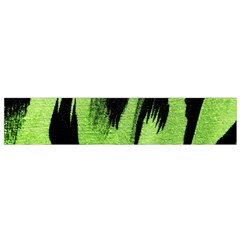 Green Tiger Background Fabric Animal Motifs Flano Scarf (small)
