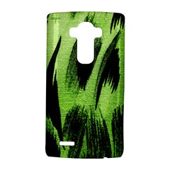 Green Tiger Background Fabric Animal Motifs LG G4 Hardshell Case