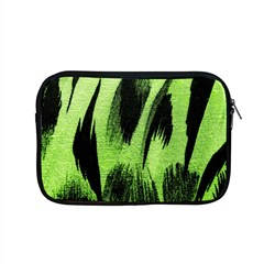 Green Tiger Background Fabric Animal Motifs Apple Macbook Pro 15  Zipper Case
