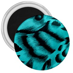 Blue Background Fabric tiger  Animal Motifs 3  Magnets