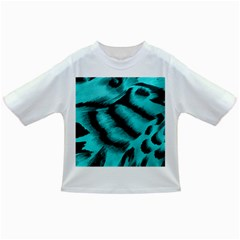 Blue Background Fabric Tiger  Animal Motifs Infant/toddler T Shirts