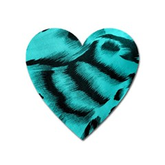 Blue Background Fabric tiger  Animal Motifs Heart Magnet