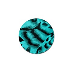 Blue Background Fabric tiger  Animal Motifs Golf Ball Marker (4 pack)