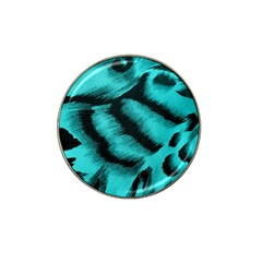 Blue Background Fabric tiger  Animal Motifs Hat Clip Ball Marker (10 pack)