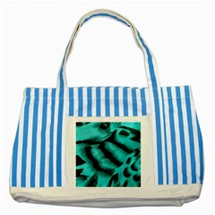 Blue Background Fabric Tiger  Animal Motifs Striped Blue Tote Bag