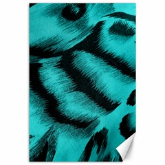 Blue Background Fabric Tiger  Animal Motifs Canvas 24  X 36