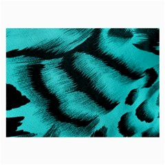 Blue Background Fabric tiger  Animal Motifs Large Glasses Cloth (2-Side)