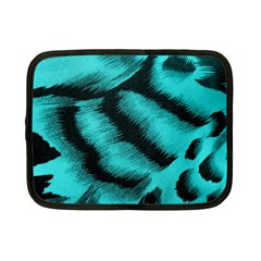 Blue Background Fabric tiger  Animal Motifs Netbook Case (Small)