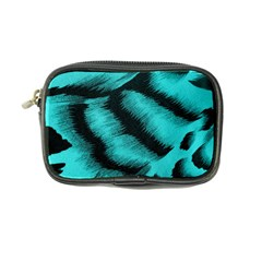 Blue Background Fabric tiger  Animal Motifs Coin Purse