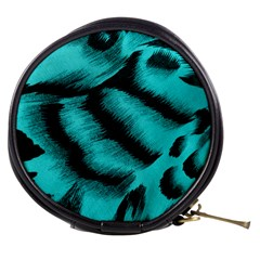 Blue Background Fabric tiger  Animal Motifs Mini Makeup Bags