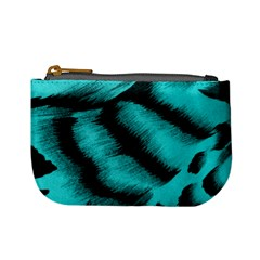 Blue Background Fabric Tiger  Animal Motifs Mini Coin Purses