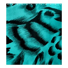 Blue Background Fabric Tiger  Animal Motifs Shower Curtain 66  X 72  (large)