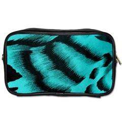Blue Background Fabric tiger  Animal Motifs Toiletries Bags