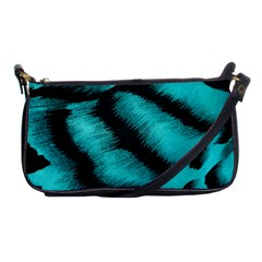 Blue Background Fabric Tiger  Animal Motifs Shoulder Clutch Bags