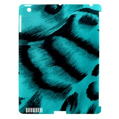 Blue Background Fabric Tiger  Animal Motifs Apple Ipad 3/4 Hardshell Case (compatible With Smart Cover)