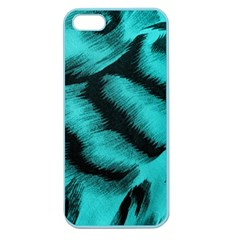 Blue Background Fabric tiger  Animal Motifs Apple Seamless iPhone 5 Case (Color)