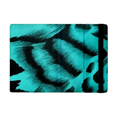 Blue Background Fabric tiger  Animal Motifs Apple iPad Mini Flip Case