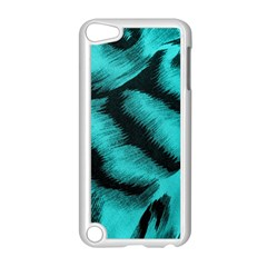 Blue Background Fabric tiger  Animal Motifs Apple iPod Touch 5 Case (White)