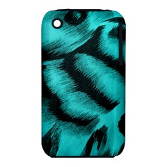 Blue Background Fabric Tiger  Animal Motifs Iphone 3s/3gs