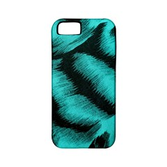 Blue Background Fabric tiger  Animal Motifs Apple iPhone 5 Classic Hardshell Case (PC+Silicone)