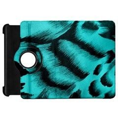 Blue Background Fabric Tiger  Animal Motifs Kindle Fire Hd 7