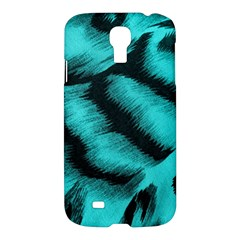 Blue Background Fabric Tiger  Animal Motifs Samsung Galaxy S4 I9500/i9505 Hardshell Case