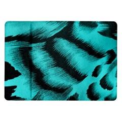 Blue Background Fabric Tiger  Animal Motifs Samsung Galaxy Tab 10 1  P7500 Flip Case