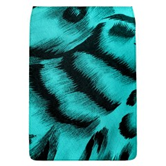 Blue Background Fabric tiger  Animal Motifs Flap Covers (L)