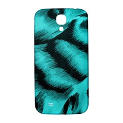 Blue Background Fabric Tiger  Animal Motifs Samsung Galaxy S4 I9500/i9505  Hardshell Back Case