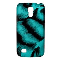 Blue Background Fabric tiger  Animal Motifs Galaxy S4 Mini