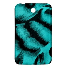 Blue Background Fabric Tiger  Animal Motifs Samsung Galaxy Tab 3 (7 ) P3200 Hardshell Case