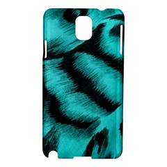 Blue Background Fabric Tiger  Animal Motifs Samsung Galaxy Note 3 N9005 Hardshell Case