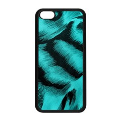 Blue Background Fabric tiger  Animal Motifs Apple iPhone 5C Seamless Case (Black)