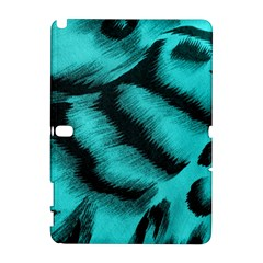 Blue Background Fabric Tiger  Animal Motifs Galaxy Note 1