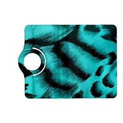Blue Background Fabric tiger  Animal Motifs Kindle Fire HD (2013) Flip 360 Case