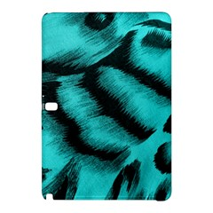 Blue Background Fabric Tiger  Animal Motifs Samsung Galaxy Tab Pro 10 1 Hardshell Case
