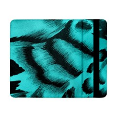 Blue Background Fabric Tiger  Animal Motifs Samsung Galaxy Tab Pro 8 4  Flip Case