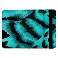 Blue Background Fabric Tiger  Animal Motifs Samsung Galaxy Tab Pro 12 2  Flip Case