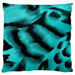 Blue Background Fabric tiger  Animal Motifs Standard Flano Cushion Case (One Side)