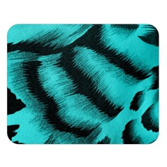 Blue Background Fabric Tiger  Animal Motifs Double Sided Flano Blanket (large)