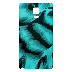 Blue Background Fabric tiger  Animal Motifs Galaxy Note 4 Back Case