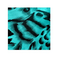 Blue Background Fabric Tiger  Animal Motifs Small Satin Scarf (square)