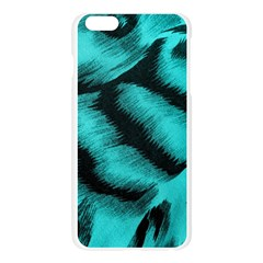 Blue Background Fabric tiger  Animal Motifs Apple Seamless iPhone 6 Plus/6S Plus Case (Transparent)