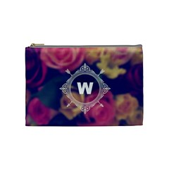 Vintage Monogram Flower Vintage Monogram Flower Cosmetic Bag (medium)