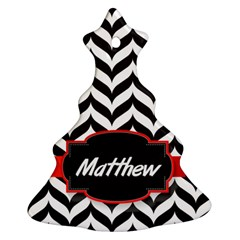 Pattern Black 1 Ornament (christmas Tree)