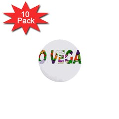 Go vegan 1  Mini Buttons (10 pack)