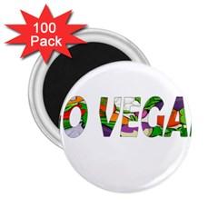 Go vegan 2.25  Magnets (100 pack)