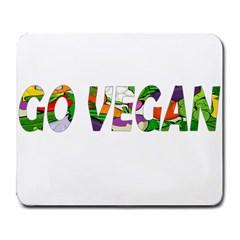 Go vegan Large Mousepads