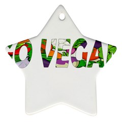 Go vegan Star Ornament (Two Sides)