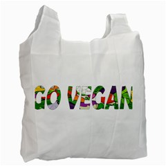Go vegan Recycle Bag (Two Side)